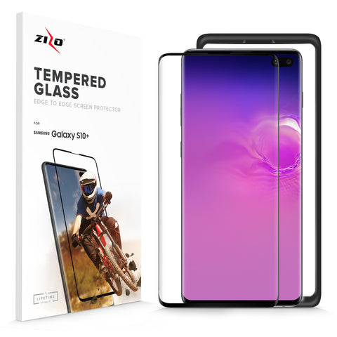 Full Edge to Edge Lightning Shield Samsung Galaxy S10 Plus Tempered Glass Screen Protector