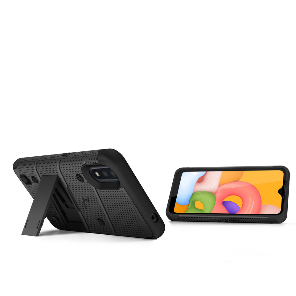 ZIZO BOLT Series Galaxy A01 Case - Black & Black