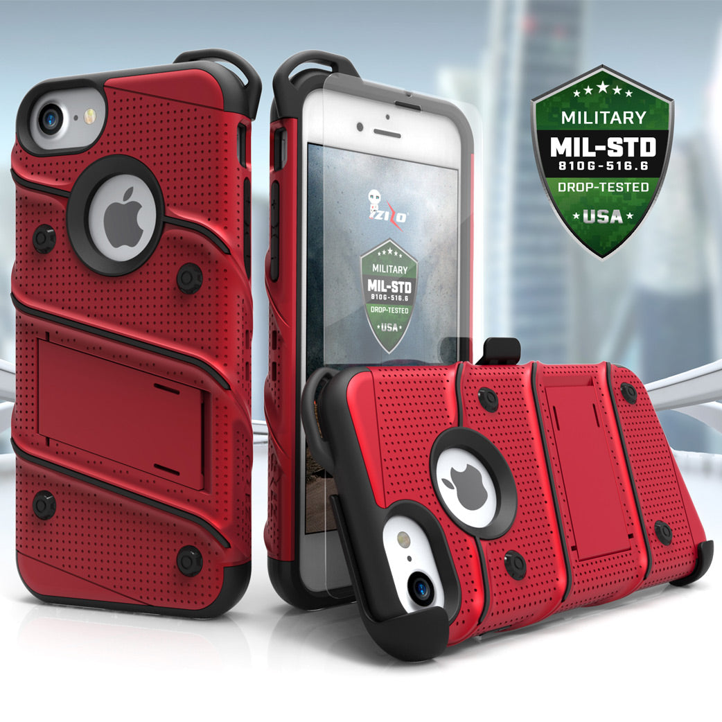 Zizo Bolt Series iPhone 8 / iPhone 7 - Red & Black
