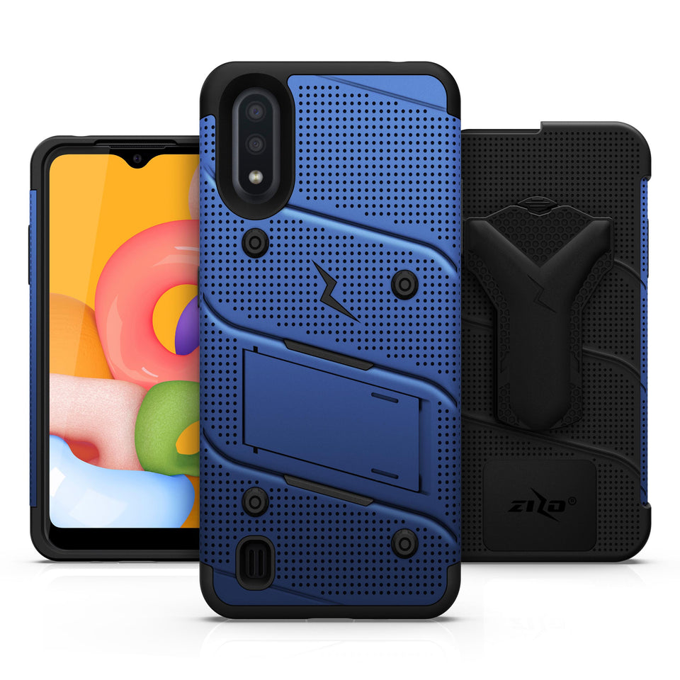 ZIZO BOLT Series Galaxy A01 Case - Blue & Black