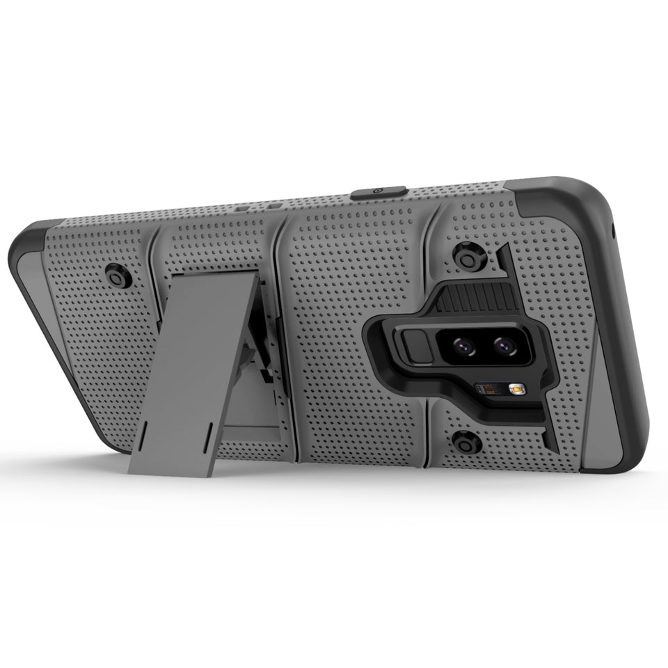 Zizo Bolt Series Case Samsung Galaxy S9 Plus (Metal Gray)