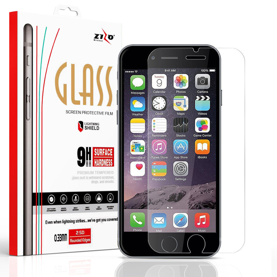 ZIZO Lightning Shield iPhone 6/6s/7/8 Tempered Glass Screen Protector | Lightning Shield Screen Protectors | zizowireless.com