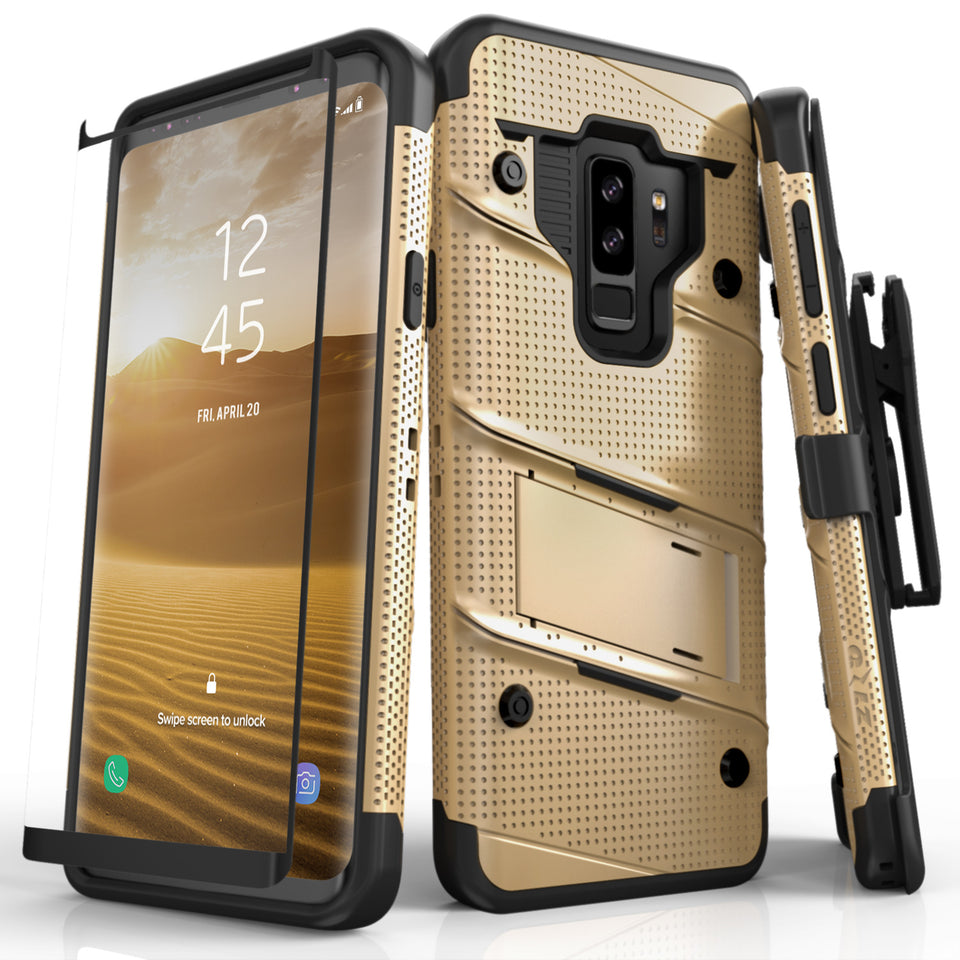 Zizo Bolt Series Case Samsung Galaxy S9 Plus (Gold/Black)