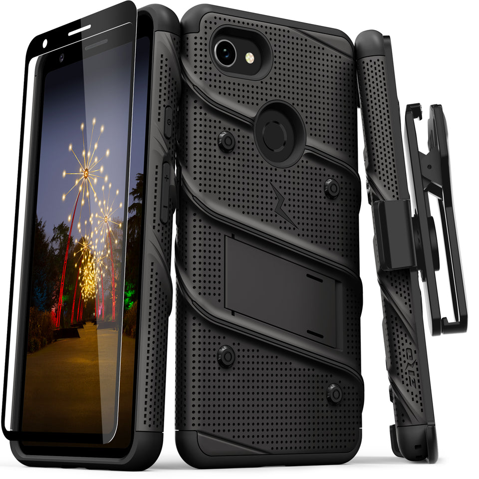 ZIZO BOLT Series Google Pixel 3a XL Case (Black/Black)