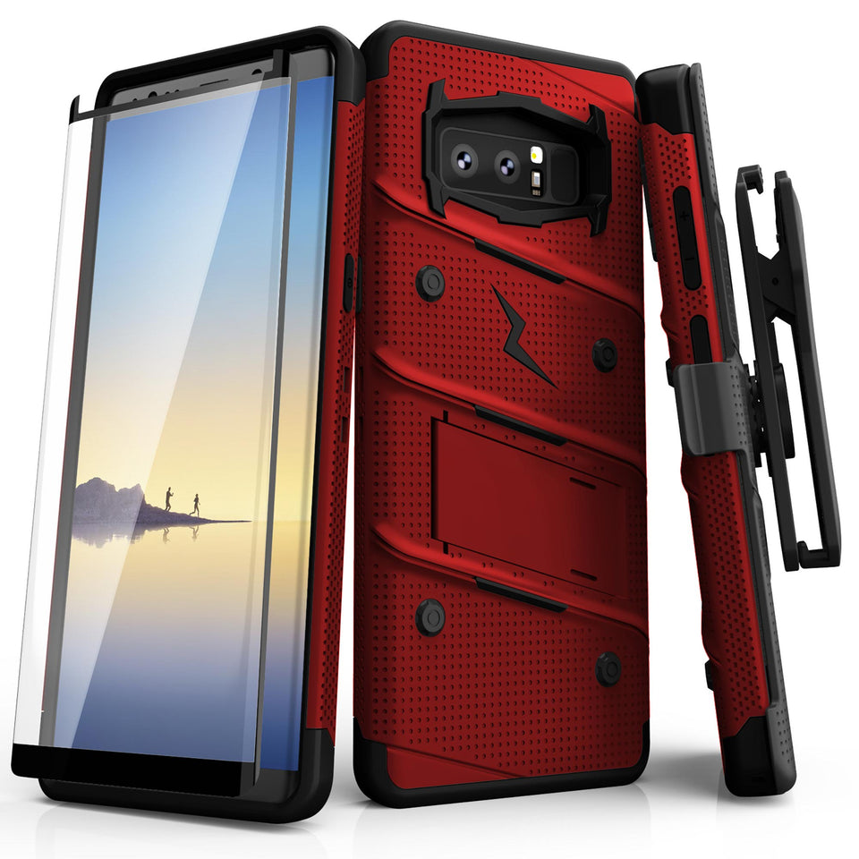 Zizo Bolt Series Case Samsung Galaxy Note 8 (Red/Black)