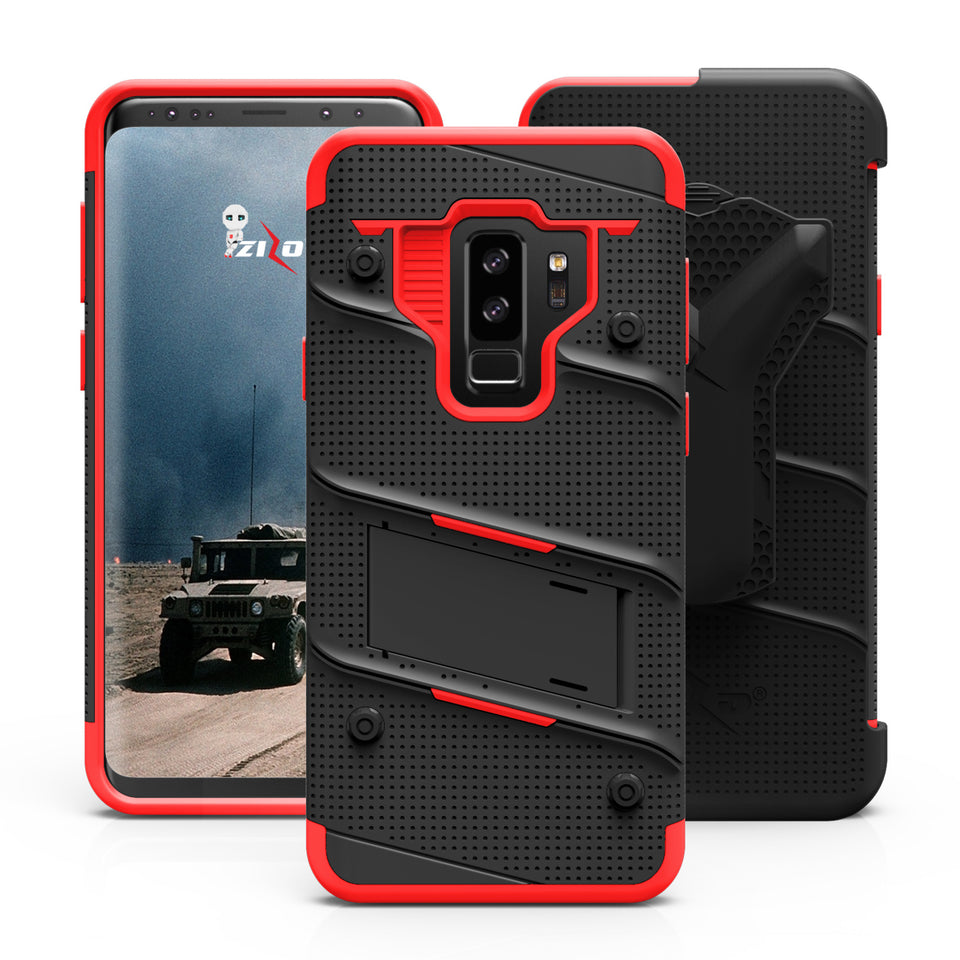 Zizo Bolt Series Case Samsung Galaxy S9 Plus (Black/Red)