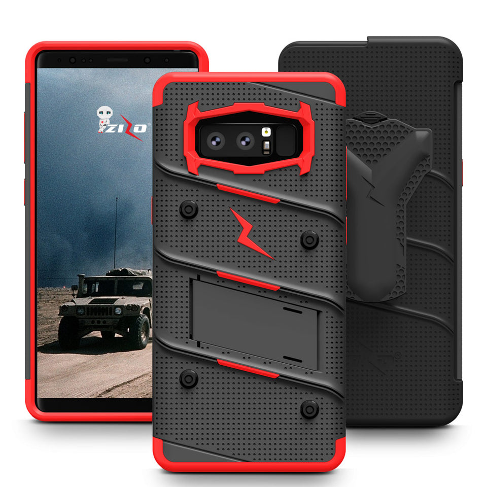 Zizo Bolt Series Case Samsung Galaxy Note 8 (Black/Red)