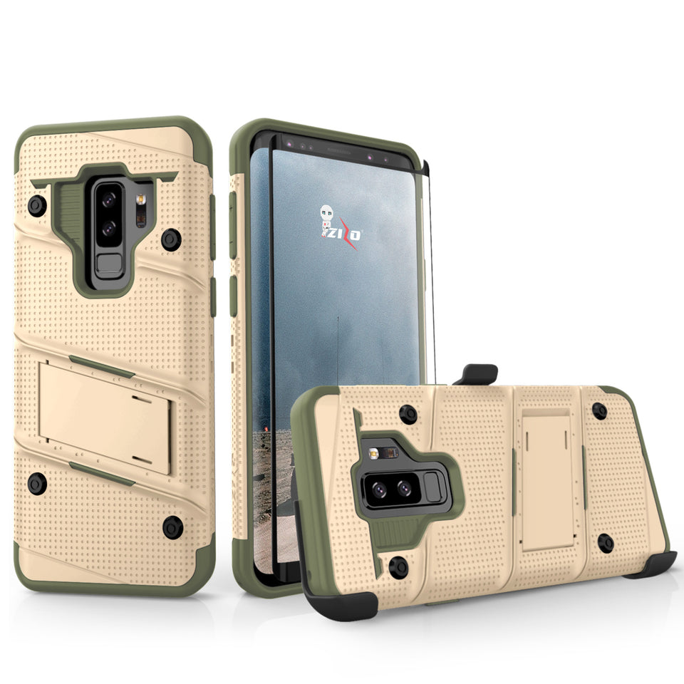 Zizo Bolt Series Case Samsung Galaxy S9 Plus (Tan/CamoGreen)
