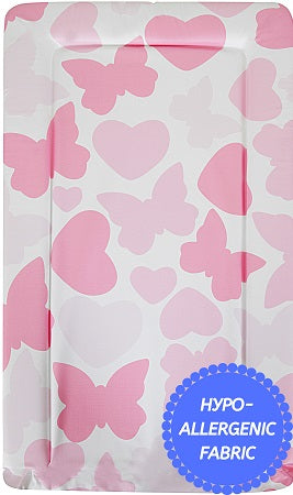 Babycurls Baby Changing Mat - Wipe Clean Waterproof 76cm x 45cm - Butterflies & Hearts