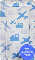 Babycurls Baby Changing Mat - Wipe Clean Waterproof 76cm x 45cm - Planes & Trains