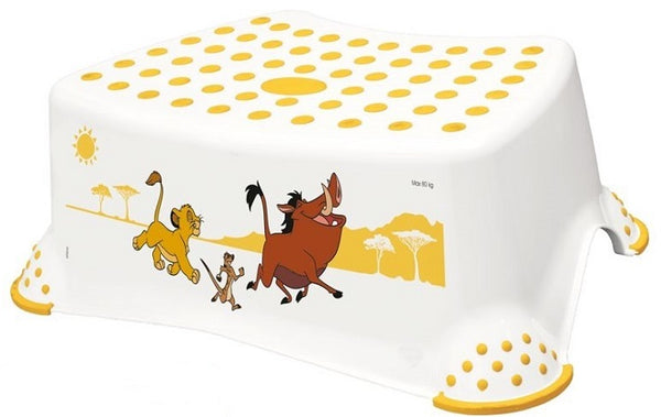 Disney Lion King Toilet Training Kids Non Slip Up Step Stool with Grips Unisex White for Safe Toddler Loo Potty Training