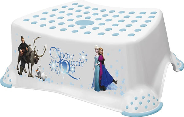 Disney Frozen Toilet Training Kids Non Slip Up Step Stool with Grips Unisex White for Safe Toddler Loo Potty Training