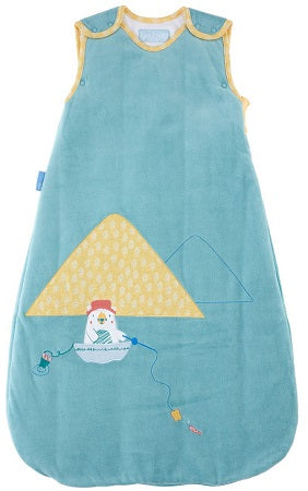 Grobag Baby Sleeping Bag Size 0-6 Months - 3.5 Winter Tog Gone Fishing Design Nursery Side Zip Opening Sleep Sack