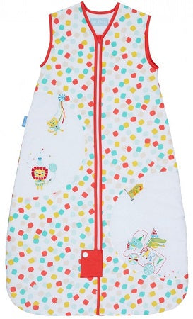 Grobag Baby Sleeping Bag Size 18-36 Months - 1.0 Tog Party Animals 100% Cotton Multicoloured Nursery Front Zip Opening Sleep Sack