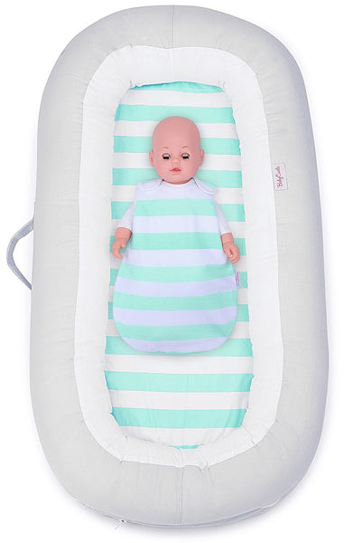 Babycurls Baby Sleep Nest Sleeping Pod Multi-Function Portable Washable 100% Soft Cotton 0 Months + Island Paradise