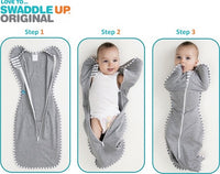 Love To Dream Swaddle UP Baby Blanket (Stage 1 - 6-8.5 Kg Medium 1.0 Tog) - Grey