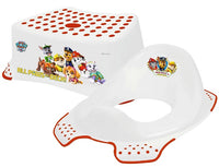 Paw Patrol Toilet Training Kids Non Slip Up Step Stool + Toilet Training Seat Combo Unisex White for Safe Toddler Loo Potty Training