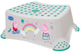 Peppa Pig Toilet Training Kids Non Slip Up Step Stool with Grips Unisex Grey for Safe Toddler Loo Potty Training