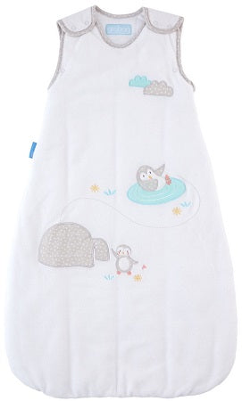 Grobag Baby Sleeping Bag Size 0-6 Months - 3.5 Winter Tog Playful Penguins Design Nursery Side Zip Opening Sleep Sack