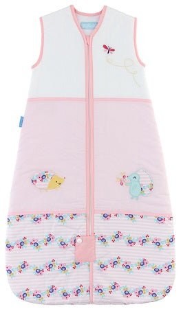 Grobag Baby Sleeping Bag Size 6-18 Months - 1.0 Tog Rosey Posie Design 100% Cotton Multicoloured Nursery Front Zip Opening Sleep Sack