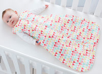 Grobag Baby Sleeping Bag Size 6-18 Months - 0.5 Tog Pink Zig Zag 100% Cotton Nursery Front Zip Opening Sleep Sack