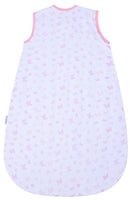 Snoozebag Baby Sleeping Bag Summer 1.0 tog Front Zip 100% Cotton - Butterflies & Hearts