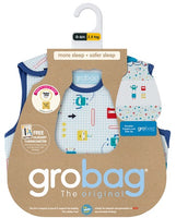 Grobag Baby Sleeping Bag Size 0-6 Months - 2.5 Tog Space Bugs Design 100% Cotton Multicoloured Nursery Side Zip Opening Sleep Sack