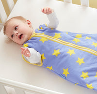 Grobag Baby Sleeping Bag Size 0-6 Months - 1.0 Tog Supersonic 100% Cotton Unisex Nursery Front Zip Opening Sleep Sack