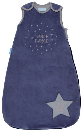 Grobag Baby Sleeping Bag Size 0-6 Months - 3.5 Winter Tog Twinkle Twinkle Design Nursery Side Zip Opening Sleep Sack
