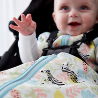 Grobag Travel Baby Sleeping Bag Size 6-18 Months - 2.5 Tog Zippy Zebras Design 100% Cotton Multicoloured Nursery Front Zip Opening Sleep Sack