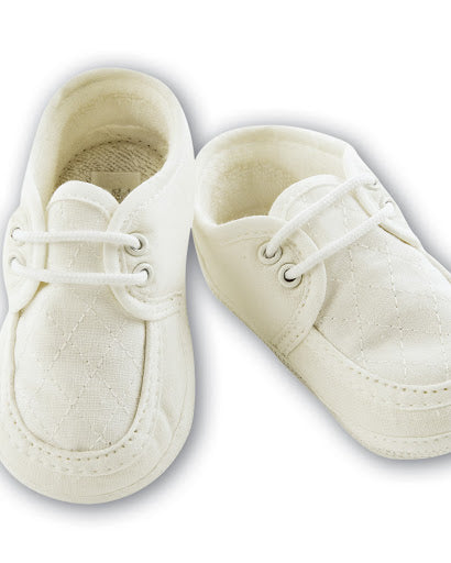Sarah Louise Christening Shoes 490 White Size 1