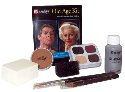 Ben Nye Complete Old Age Character  Makeup Kit HK-6 Halloween Makeup, Theatre