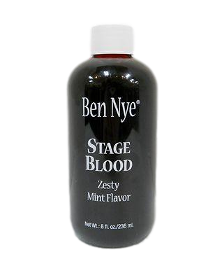 Ben Nye Stage Blood Mint Flavored SB-5   8fl oz/236ml Moulage, Horror, Zombie