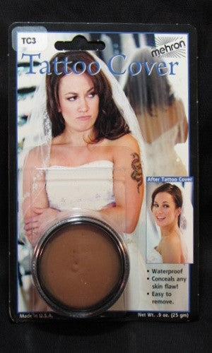 Mehron Tattoo Cream Cover Up TC3 Flaw Concealer, Birthmarks, Discolorations FREE SHIPPING