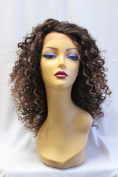 curly lace front brown wig cosplay River Song Doctor Who