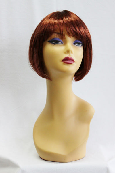 1920s flapper costume wig natural red