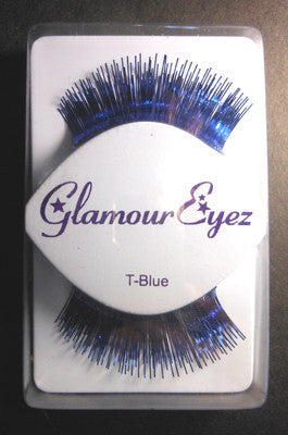 Glamour Eyez Blue Tinsel  T-Blue   Synthetic Eyelashes By Westbay Clubwear