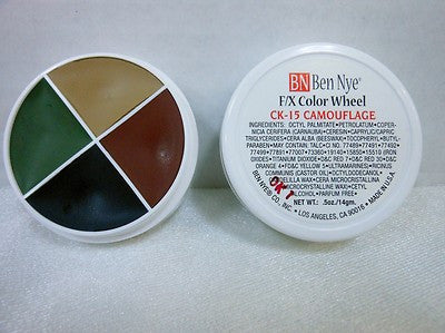 Ben Nye FX Color Wheel Compact  CK-15  Camouflage 4 Color Set .5oz/14gm
