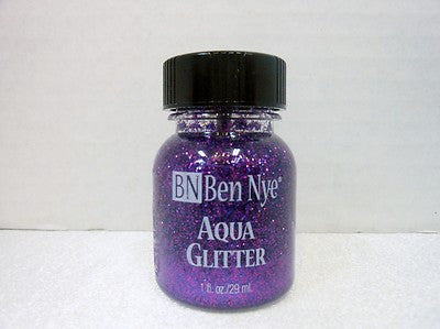 Ben Nye Aqua Glitter AG-7 Purple 1fl oz/29ml Face Paint, FX