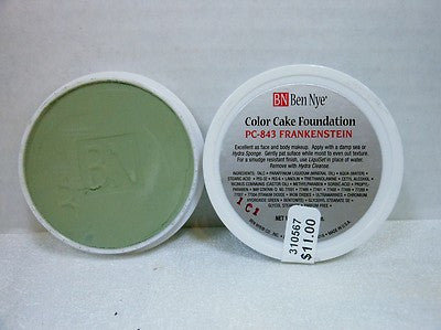 Ben Nye Color Cake Foundation PC-843 Frankenstein 1oz/28 gram
