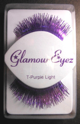 Glamour Eyez Purple Tinsel  T-Purple   Synthetic Eyelashes By Westbay Clubwear