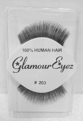 Glamour Eyez 100% Human Hair Upper Eyelashes #203 By Westbay