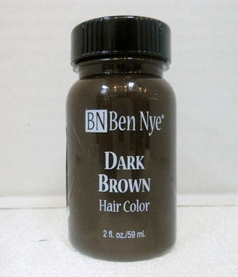 Ben Nye Liquid Hair Color Dark Brown BH-2  2fl.oz/59ml Brush On Wash Out