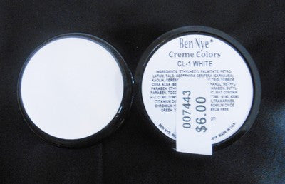 Ben Nye Primary Colors Creme Liners White CL-1 Creme Makeup