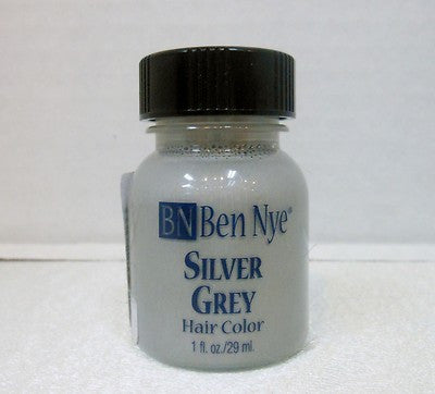 Ben Nye Liquid Hair Color Silver Grey HG-1  1fl.oz/29ml Brush On Wash Out