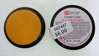 Ben Nye Primary Colors Creme Liners  Goldenrod CL-6 Creme Makeup .25oz