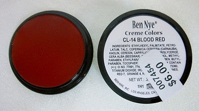 Ben Nye Primary Colors Creme Liners Maroon CL-15 Creme Makeup