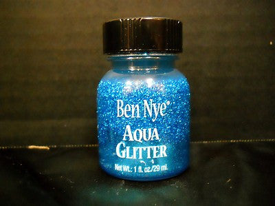 Ben Nye Aqua Glitter AG-4  Blue 1fl oz/29ml Face Paint, FX supply's for the professional makeup artists colorado and world wide shipping