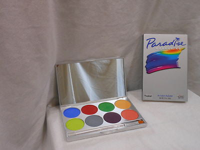 Paradise Makeup AQ 8 Color Tropical Palette by Mehron The Life Of the Party supply's for the professional makeup artists Fort Collins Colorado.