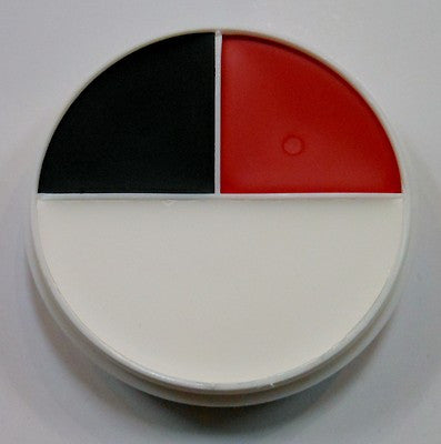 Ben Nye Professional Creme Color Red, White and Black 3 Color Wheel